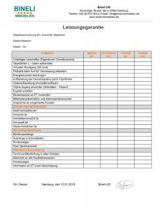 Leistungsguarantie. Immobilienmakler Hamburg, Sasel, Farmsen-Berne, Poppenbüttel, Rahlstedt, Uhlenhorst, Winterhude, Bineli